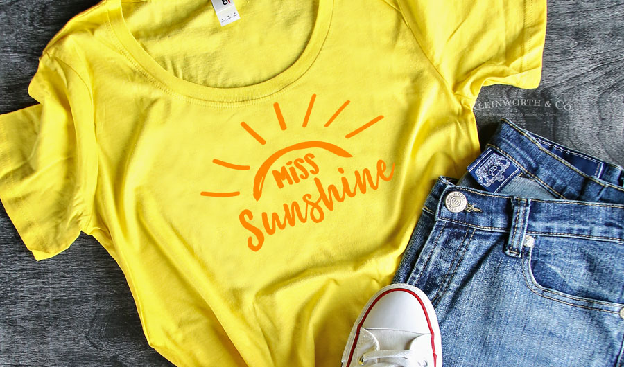 Miss Sunshine T Shirt Iron On Kleinworth Amp Co