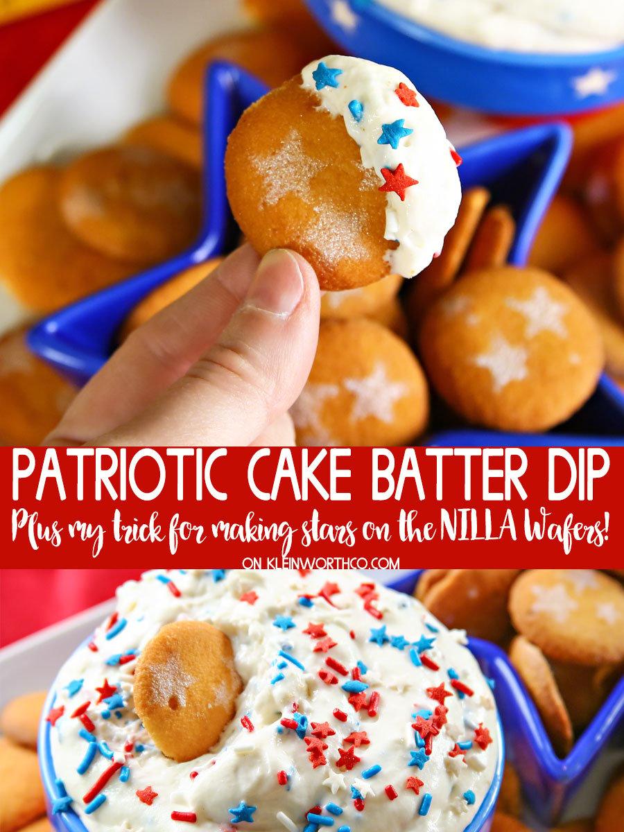 Patriotic Cake Batter Dip