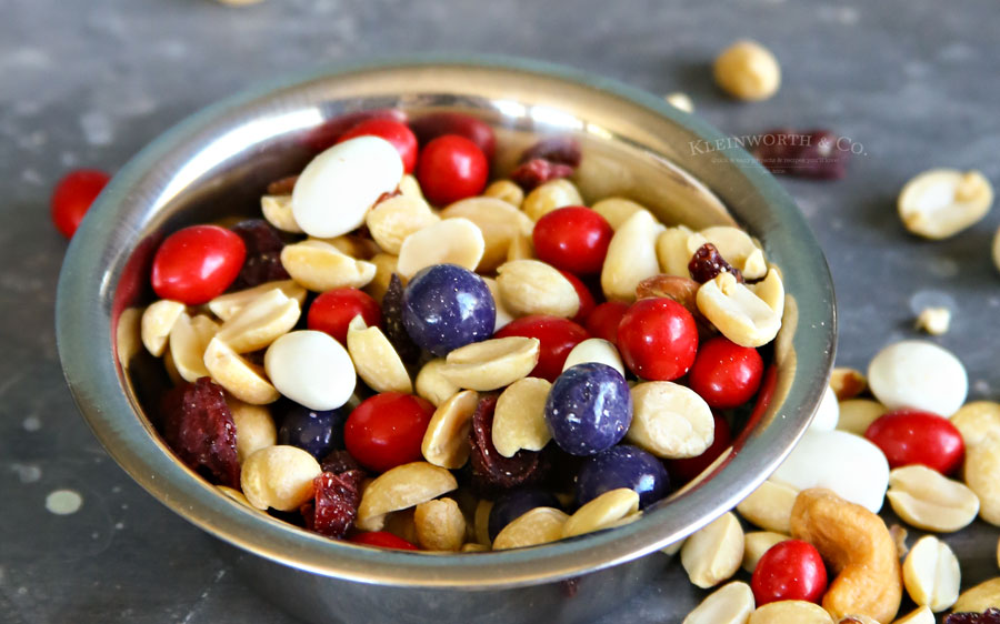 Patriotic Trail Mix snack recipe
