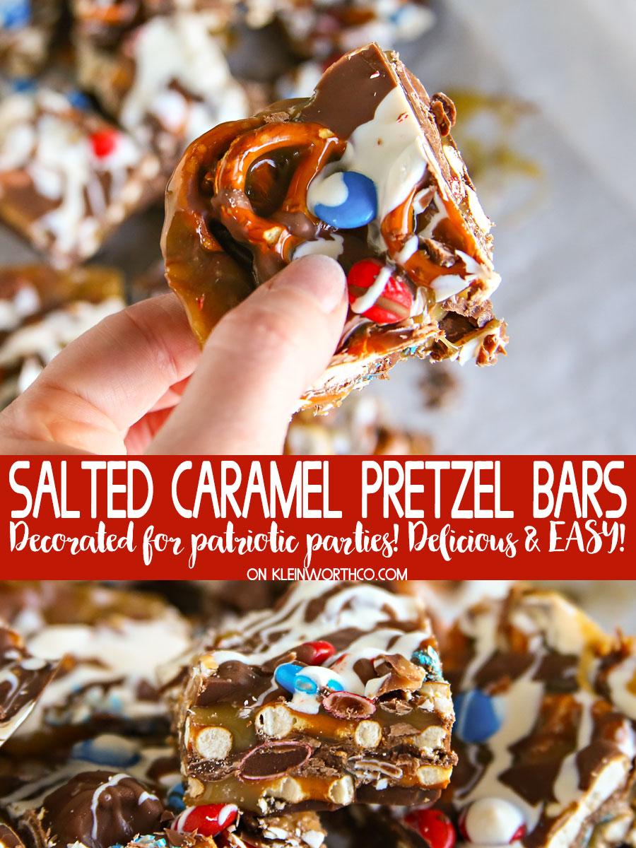 Salted Caramel Pretzel Bars