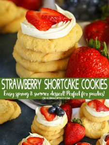 Easy Strawberry Shortcake Cookies