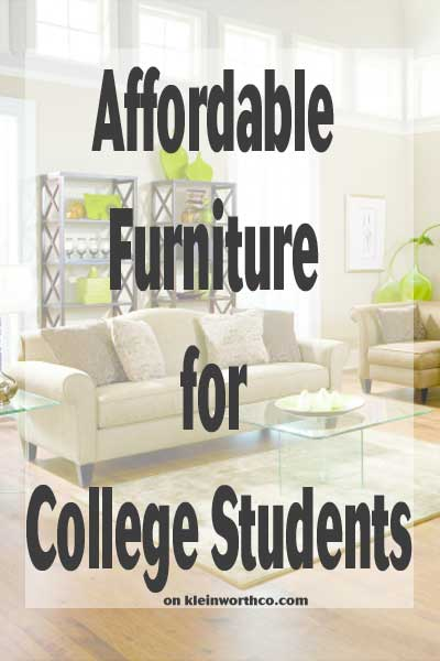 Affordable Furniture for College Students