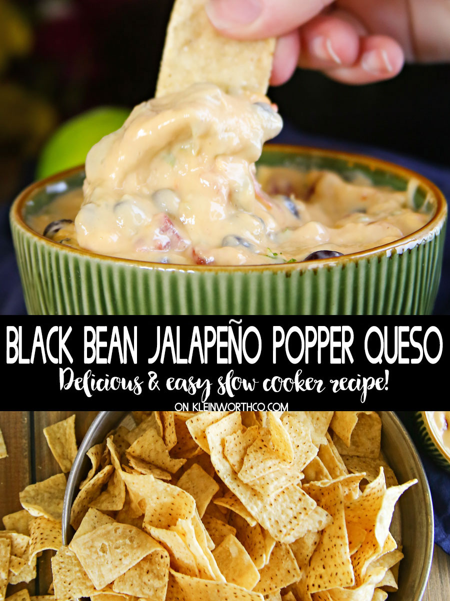 Black Bean Jalapeño Popper Queso