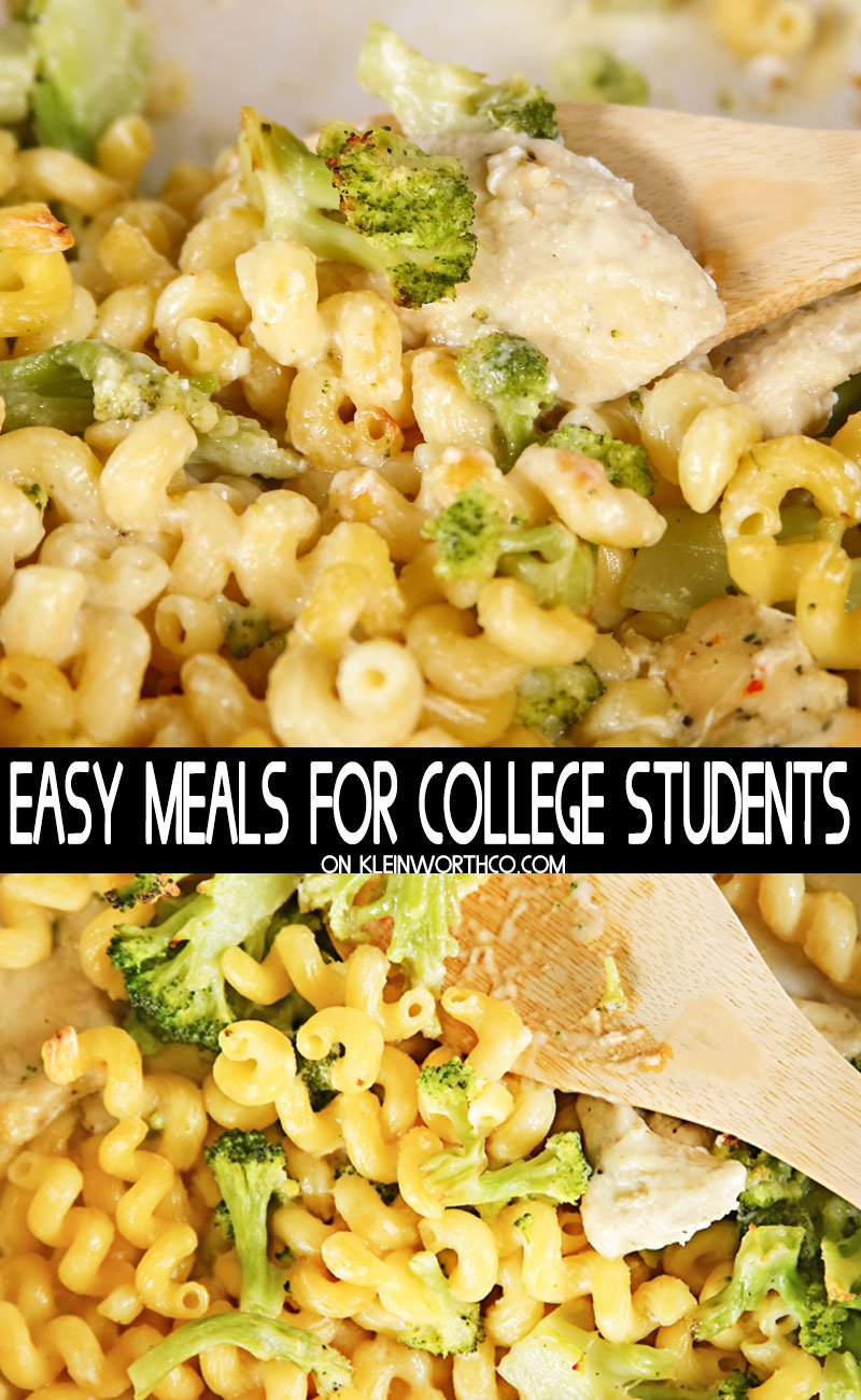 Easy Meals for College Students