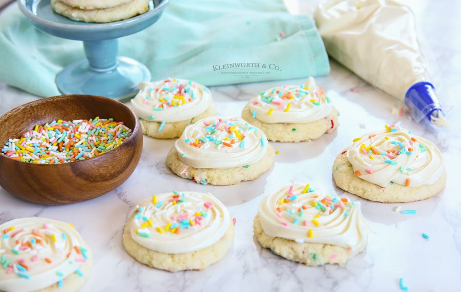recipe Frosted Funfetti Cake Mix Cookies