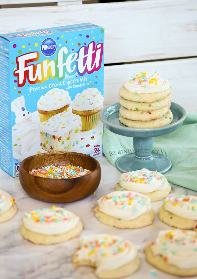 Frosted Funfetti Cake Cookies