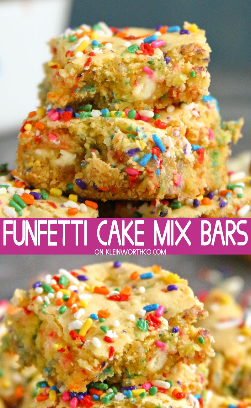Funfetti Cake Mix Bars