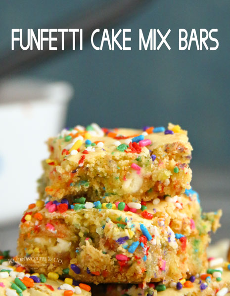 Funfetti Cake Mix Bars