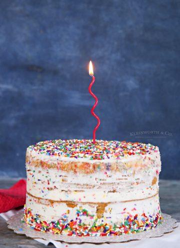 how to make Homemade Funfetti Cake