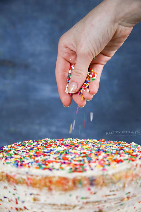 rainbow sprinkles - Homemade Funfetti Cake