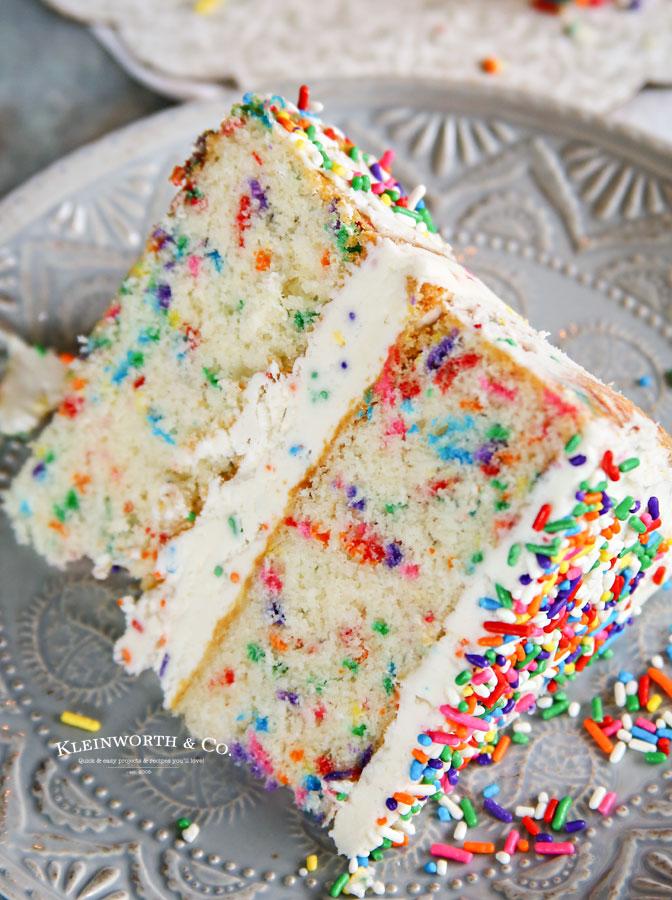 Homemade Funfetti Cake sprinkles