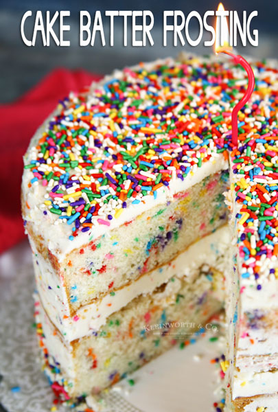 Cake Batter Frosting Recipe