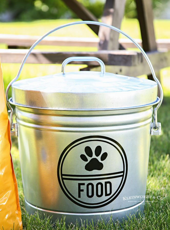 DIY Galvanized Dog Food Storage Container