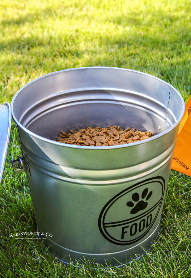 Free cut image download - Galvanized Dog Food Storage Container