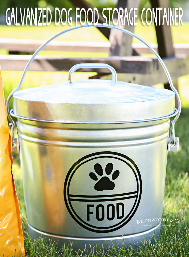 Galvanized Dog Food Storage Container