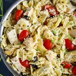 Greek Feta Chicken Pasta Salad