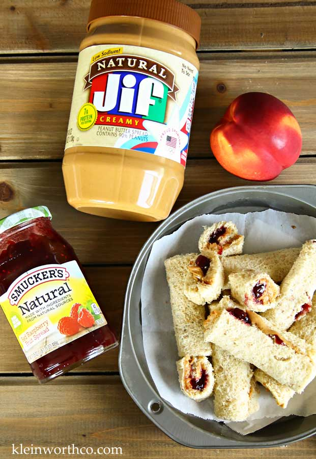 Peanut Butter & Jelly Roll-Ups - Back to School
