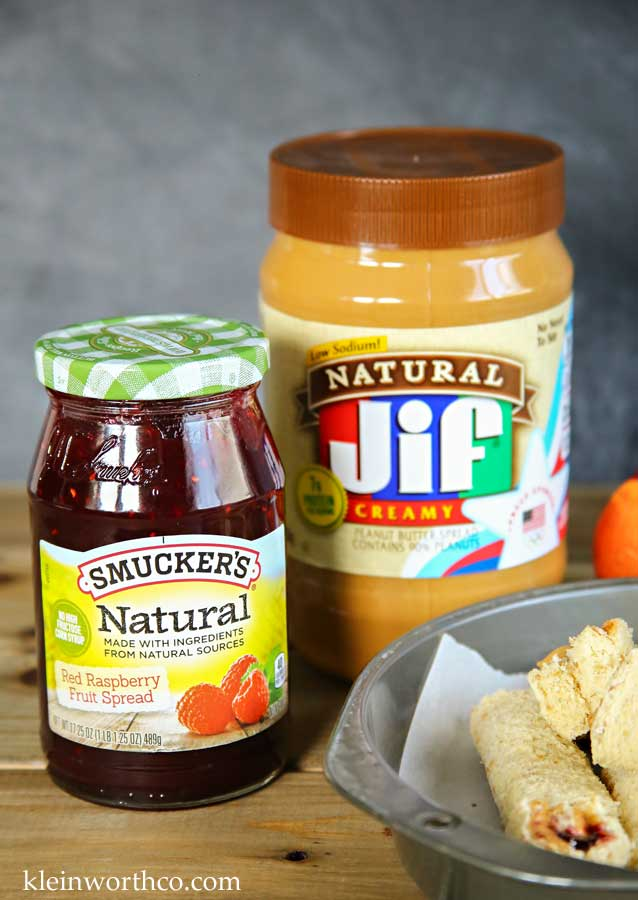 Peanut Butter & Jelly Roll-Ups with Jif & Smucker's