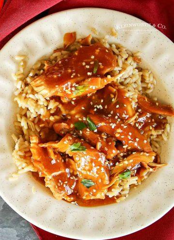 Instant Pot Honey Sesame Chicken dinner recipe