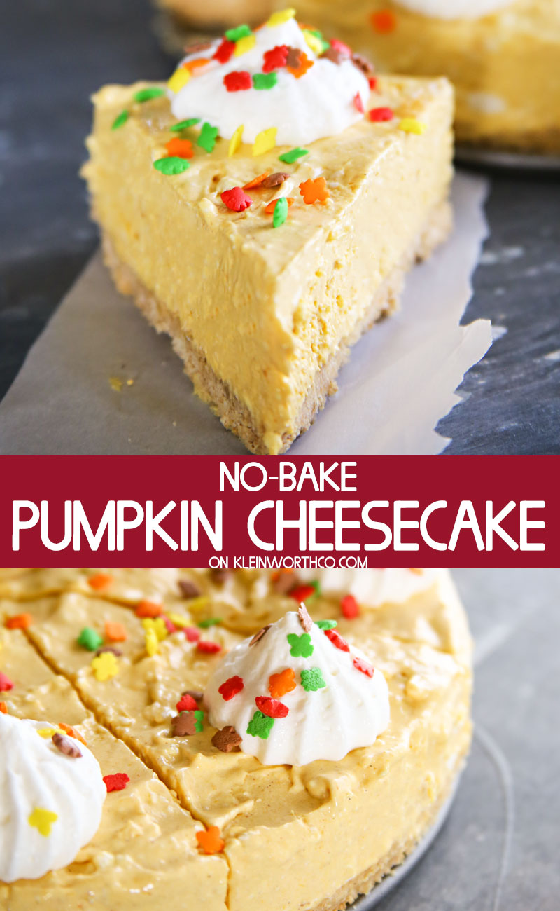 Easy No-Bake Pumpkin Cheesecake