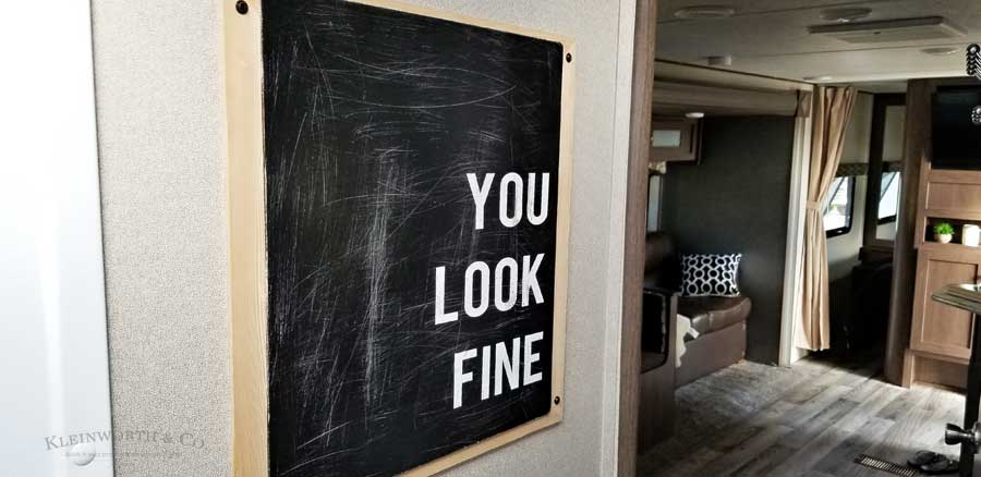 Cricut Vinyl Project - You Look Fine - Bath Art