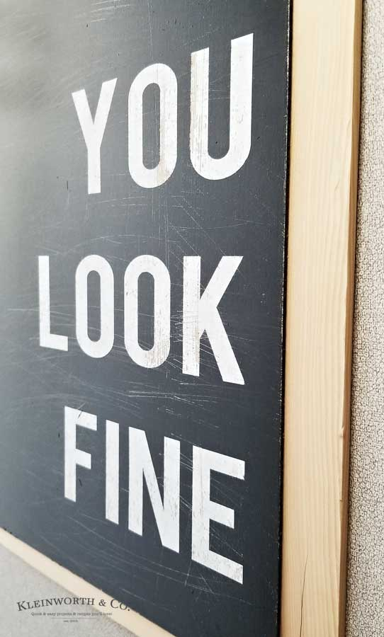 bathroom decor - You Look Fine - Bath Art- Cricut Project