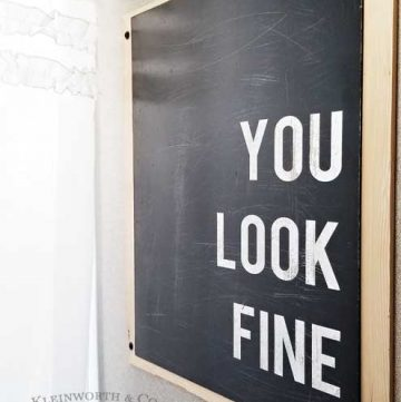 You Look Fine – Bath Art- Cricut Project