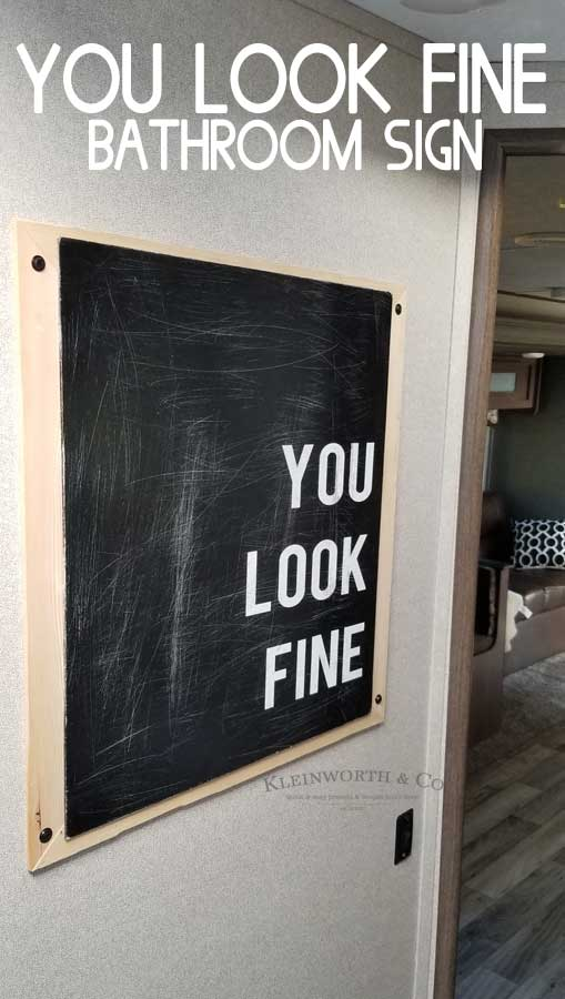 You Look Fine - Bath Art- Cricut Project