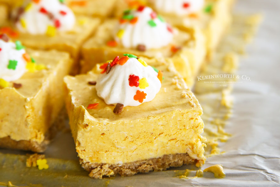 How to make No-Bake Pumpkin Cheesecake Bars