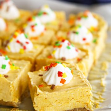 No-Bake Pumpkin Cheesecake Bars Dessert