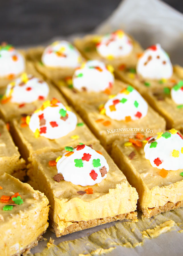 Holiday Recipe - No-Bake Pumpkin Cheesecake Bars