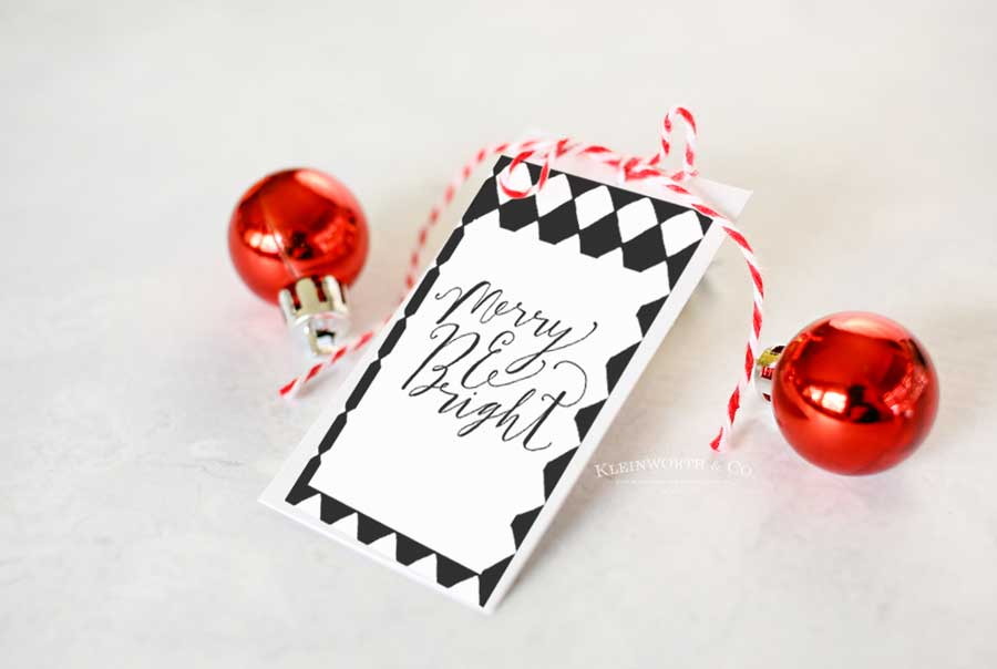 Free Printable - Black and White Cursive Free Printable Gift Tags