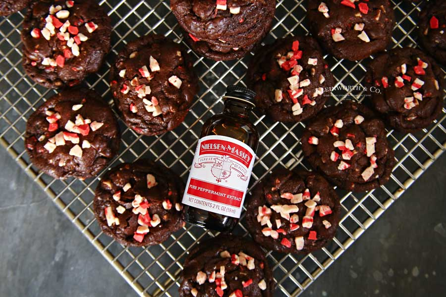Recipe for Dark Chocolate Peppermint Cookies