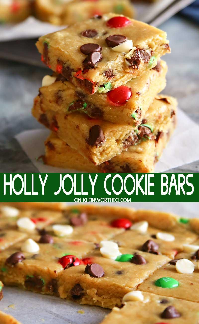 Holly Jolly Cookie Bars Kleinworth Co
