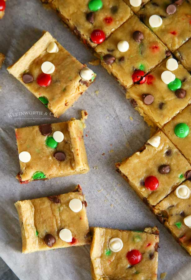 Christmas Cookie Bars - Holly Jolly Cookie Bars