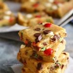 Holly Jolly Cookie Bars