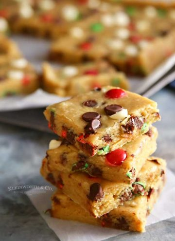 Holly Jolly Cookie Bars recipe