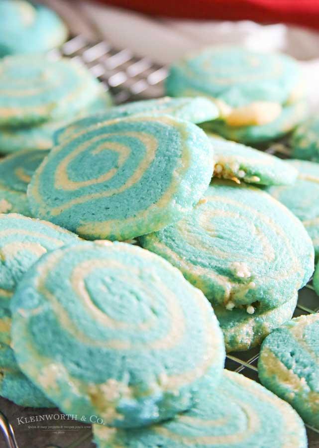 How to make Jack Frost Pinwheel Cookies