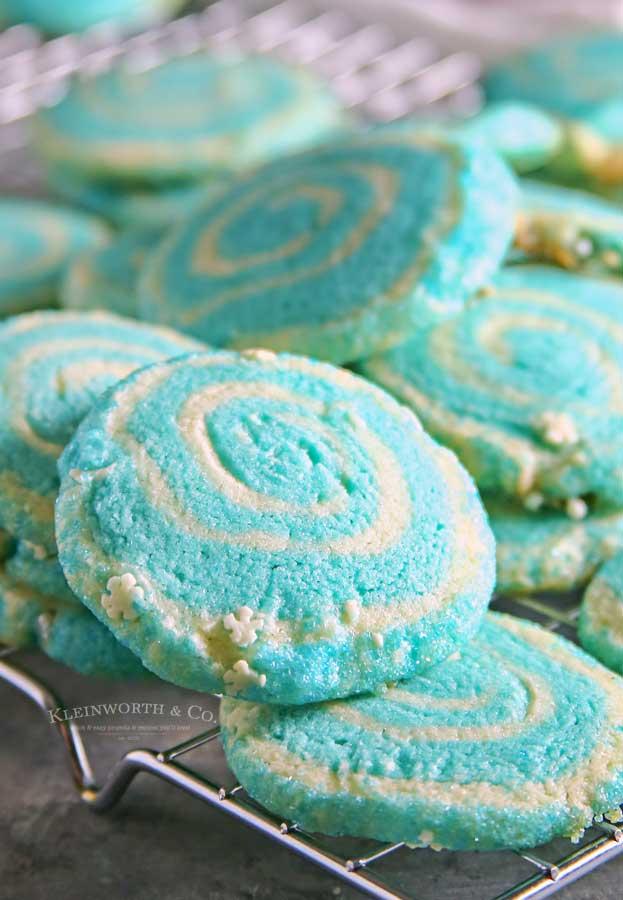 Jack Frost Pinwheel Cookies recipe