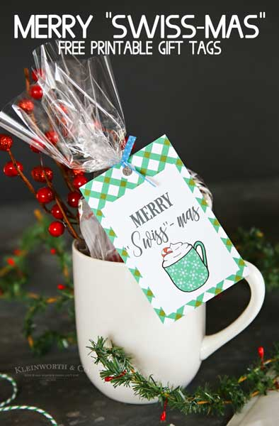 Merry Swiss-Mas Free Printable Gift Tags