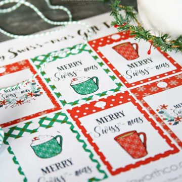 Neighbor gifts - Merry Swiss-Mas Free Printable Gift Tags