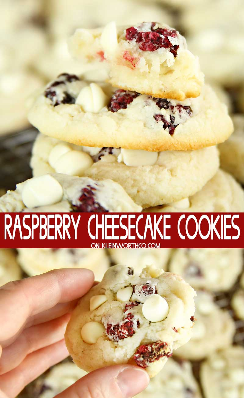 Raspberry Cheesecake Cookies