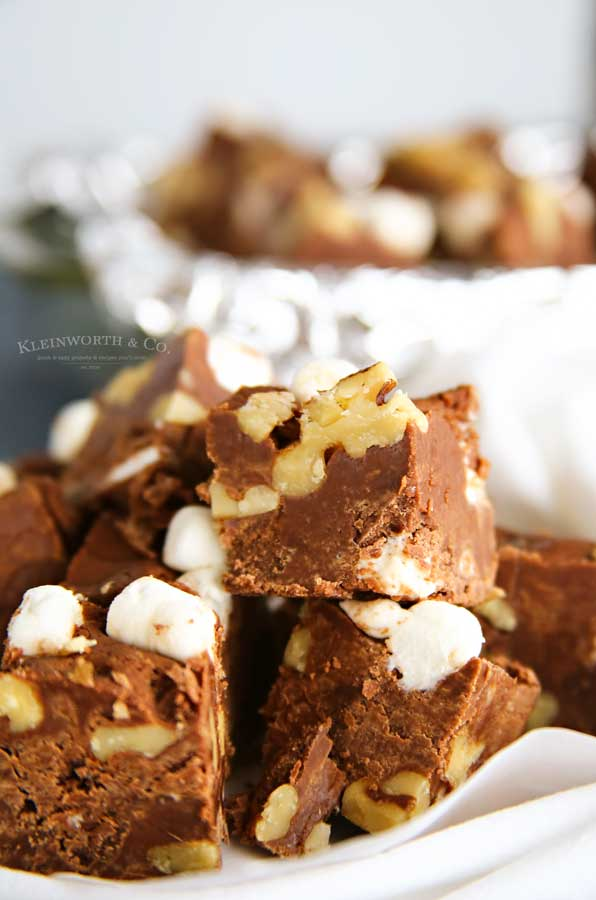 holiday recipe Rocky Road Fudge