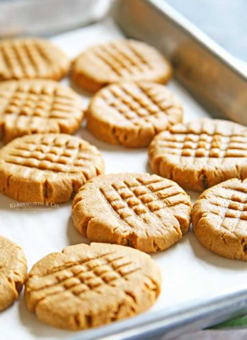 Best 3-Ingredient Peanut Butter Cookies