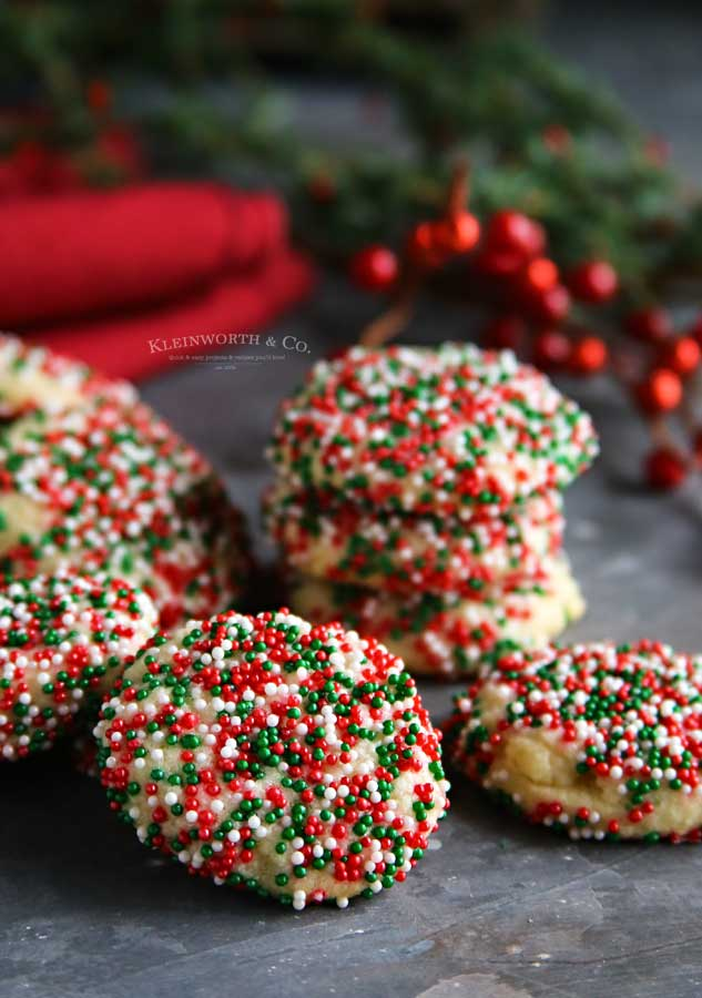 holiday treat - Christmas Sprinkle Cookies