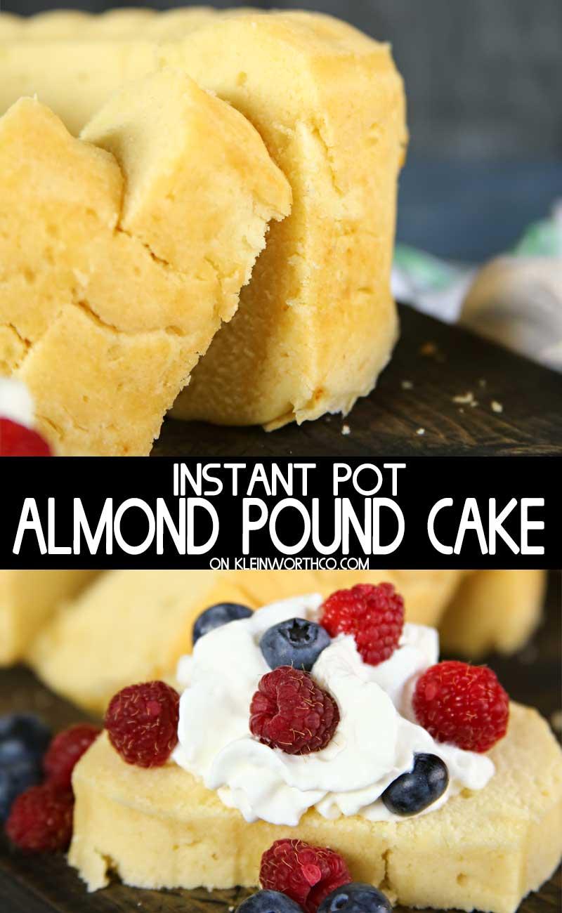 Instant Pot Almond Pound Cake