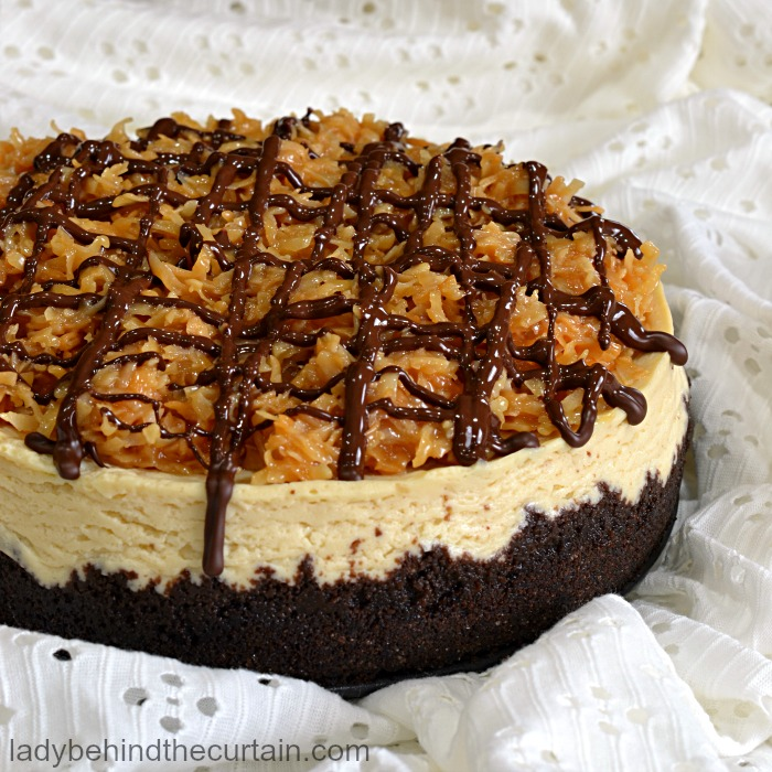 Instant Pot Samoa Cheesecake