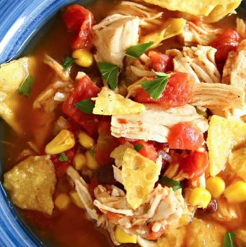 30 minute dinner - Instant Pot Chicken Tortilla Soup