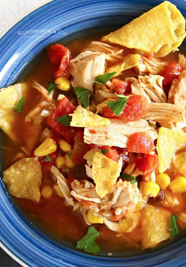 instapot chicken tortilla soup