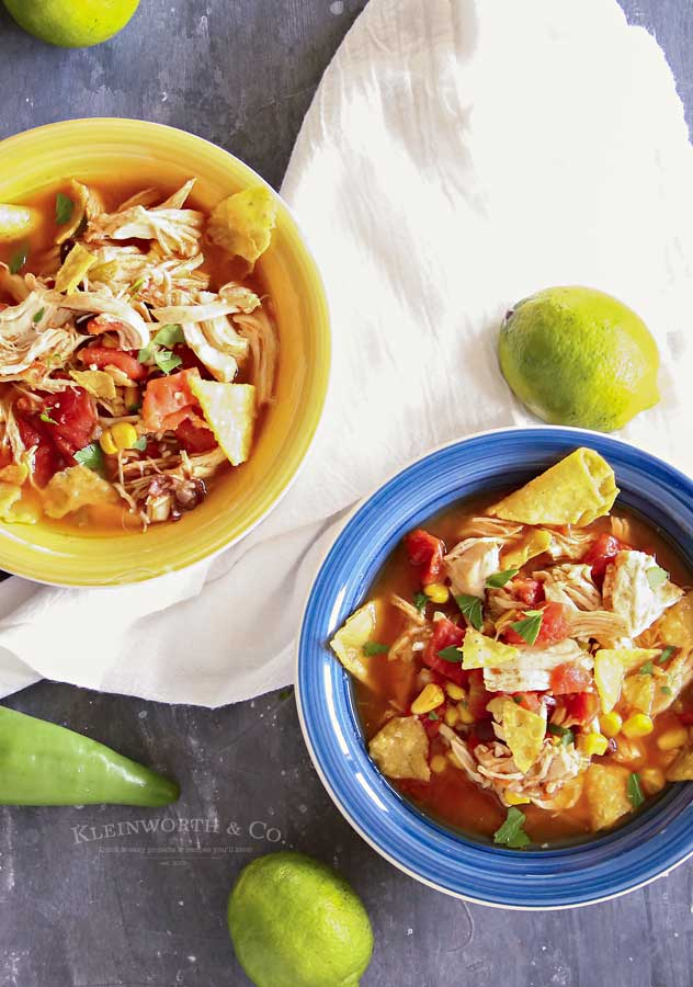 easy dinner recipe - Instant Pot Chicken Tortilla Soup